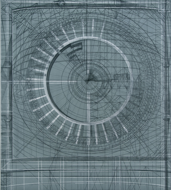 Goldsleger, Azimuth, 2012, mixed media on linen, 70 x 62 inches - hp